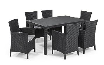 Keter - Set de mobiliario de jardín Melody/Iowa (Mesa + 6 ...