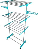 Beldray LA023773TQ Deluxe 3 Clothes Airer, 15 m Drying Space, Turquoise