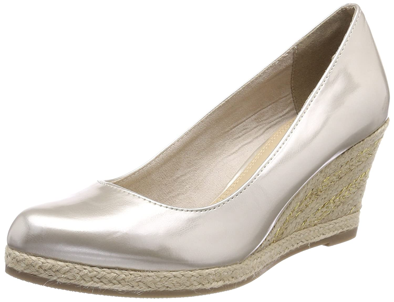 Marco Tozzi 22440, Zapatos de Tacón para Mujer 38 EU|Plateado (Platinum Pat.)