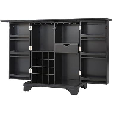Crosley Furniture LaFayette Expandable Top Bar Cabinet - Black