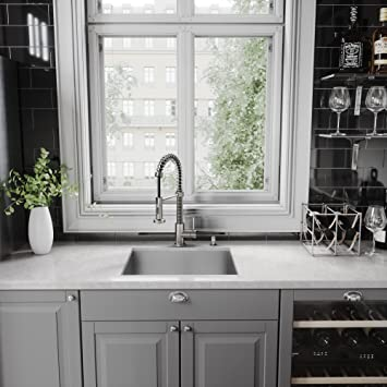 Captivating VIGO Edison Single Handle Pull Down Spray Kitchen Faucet, Stainless Steel    Touch On Kitchen Sink Faucets   Amazon.com