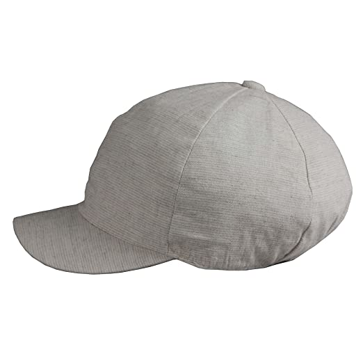 fa8d3e35631 Morehats Small Striped Linen Look Short Brim Round Top Baseball Cap - Off  White at Amazon Men s Clothing store