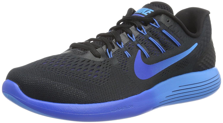 Nike Herren Lunarglide 8 Laufschuhe  42.5 EU|Mehrfarbig (Black/Multi-color-deep Royal Blue-hyper Cobalt)
