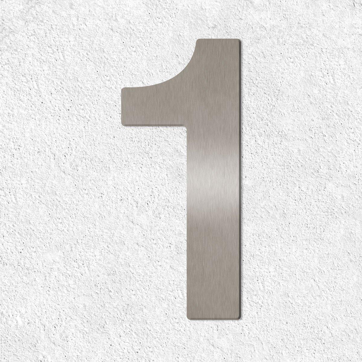 7 inkl 160mm Thorwa/® Design Edelstahl Hausnummer aus V2A Montagematerial//H/öhe: 16cm fein geb/ürstet