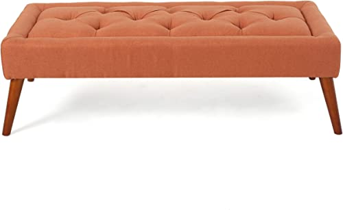 Christopher Knight Home Dilwyn Fabric Tuft Top Ottoman