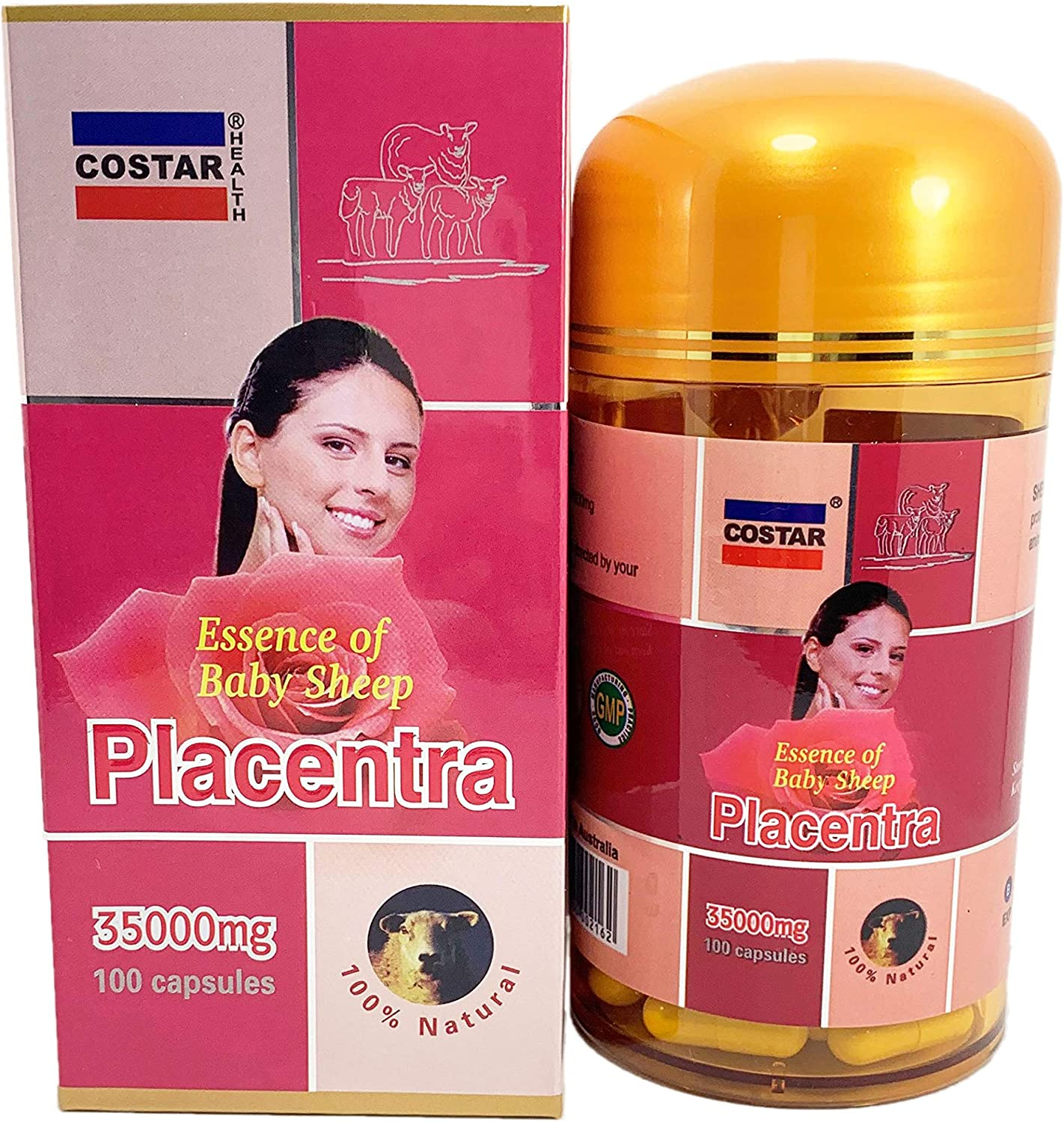 Costar Sheep Placenta Extract 35000mg 100 Capsules Australian Made Baby Sheep Essential
