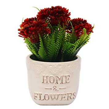 Vgia Artificial Plants For Home Decor Fake Dandelion Tabletop Decoration Red