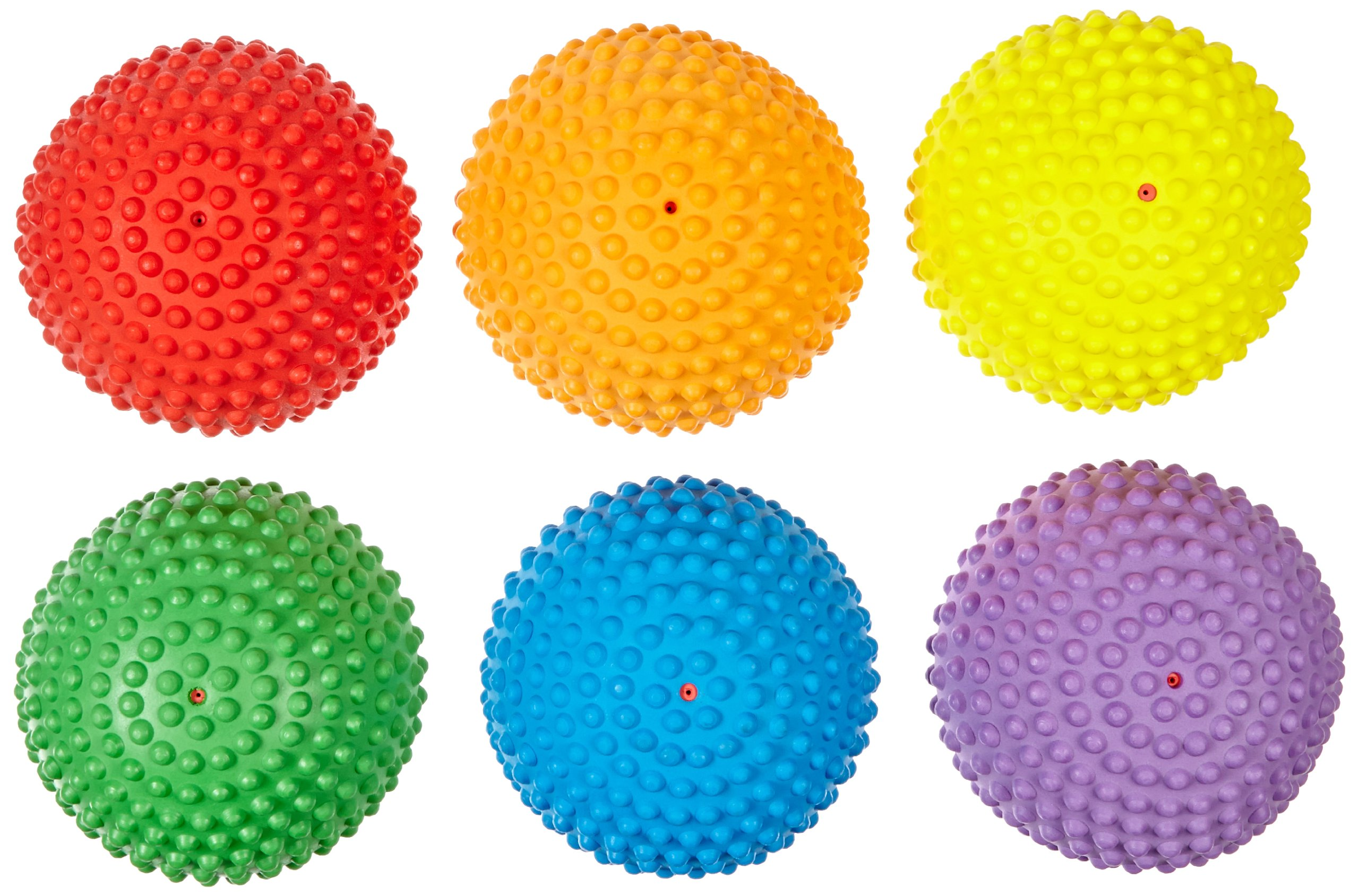 Abilitations Tactile Step-N-Stones Walk-On Domes - Set of 6 - 6 Colors - 009097