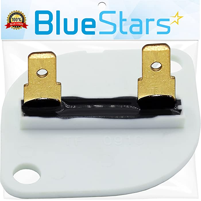 3390719 Dryer Thermal Fuse Replacement part by Blue Stars - Exact fit for Whirlpool & Kenmore Dryer - Replaces 688841, 690198, 279650, 3389639