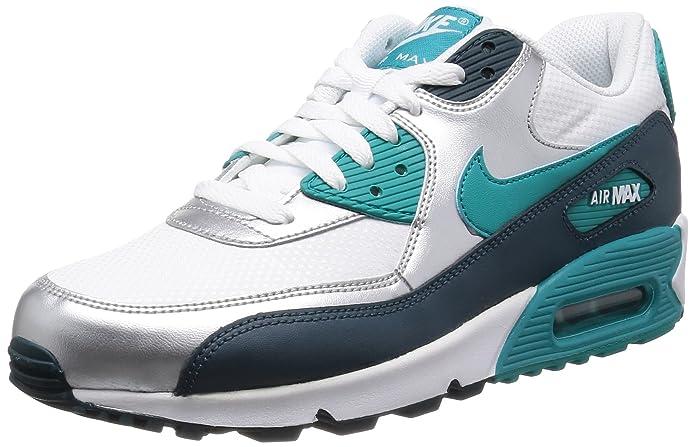 factory authentic b4606 55102 Nike WMNS Air Max 90, Sneakers Basses Femme - - weiß Petrol, 36 EU   Amazon.fr  Chaussures et Sacs