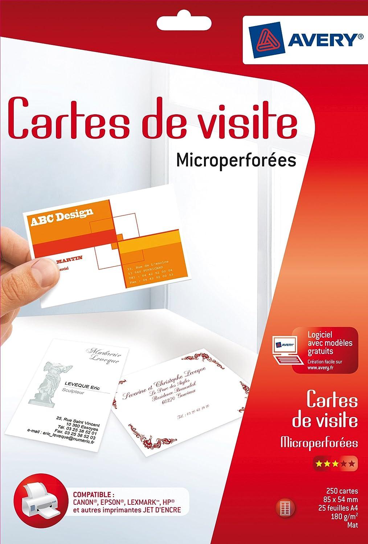 Avery Business Cardss MAT 185G 180 85X54 Carta fotografica Avery Tico Srl 52684