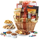 Broadway Basketeers Deluxe Gift Basket with Lindt Chocolates, Perfect Gift For Father's Day, Thinking Of You, Corporate Gifts