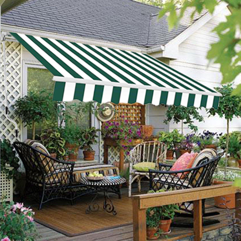 DIY Greenbay Toldo Manual retráctil Parasol Toldo con accesorios y ...