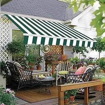 DIY Greenbay Toldo Manual retráctil Parasol Toldo con accesorios y manivela: Amazon.es: Jardín