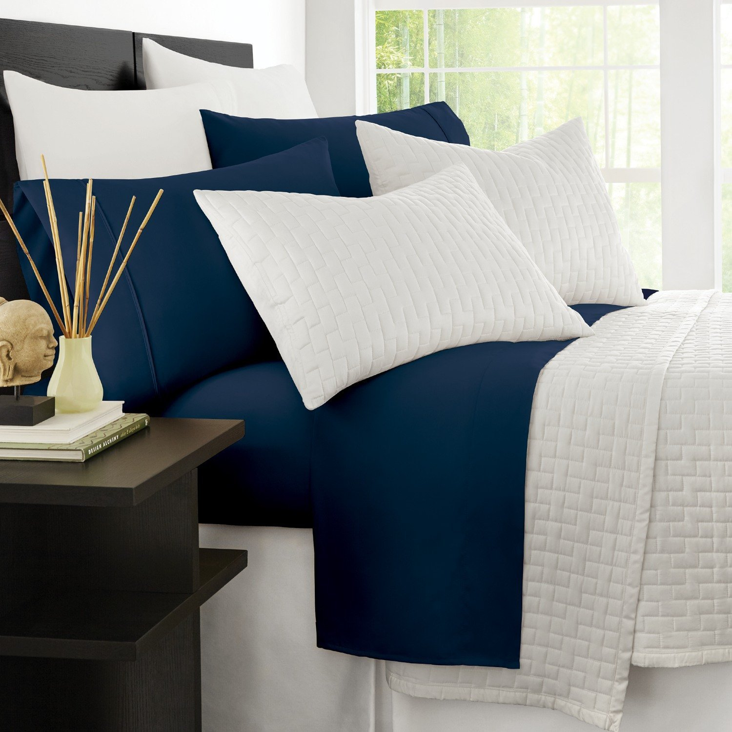 Navy Blue And White Bedding Amazon Com