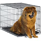 New World Pet Products Folding Metal Dog Crate; Single Door & Double Door Dog Crates
