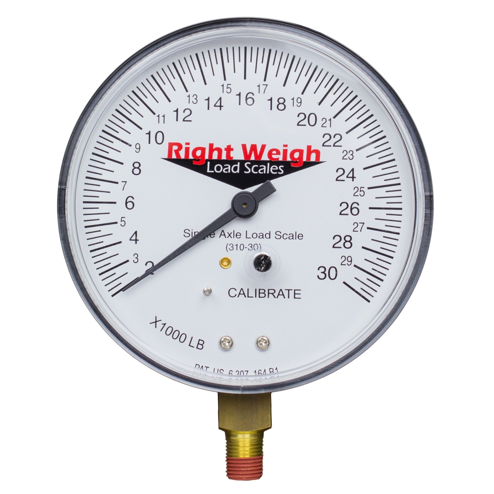 Right Weigh Replacement Gauge 310-30-GO (Gauge Only) Single-Axle Exterior Analog Load Scale - for Single Height Control Valve Air Suspensions