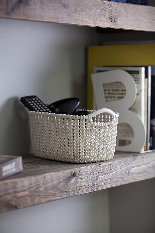 CURVER 3253923975000 Caja y Cesta de almacenaje - Cajas y cestas de almacenaje (Storage Basket, Color Blanco, Prendas de Punto, Monótono, Rectangular, ...