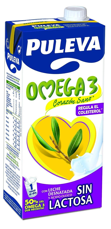 Puleva Omega 3 sin Lactosa - Pack 6 x 1 L: Amazon.es: Alimentación y bebidas