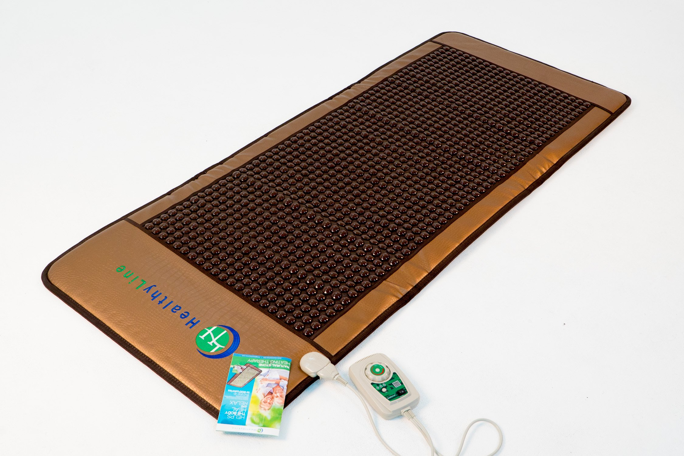 HealthyLine Far Infrared Heating Mat - For Pain Relief, Stress & Insomnia 76'' x 32'' | Natural Tourmaline Stone | Negative Ions (XL & Firm) | FDA Registered by HealthyLine (Image #4)