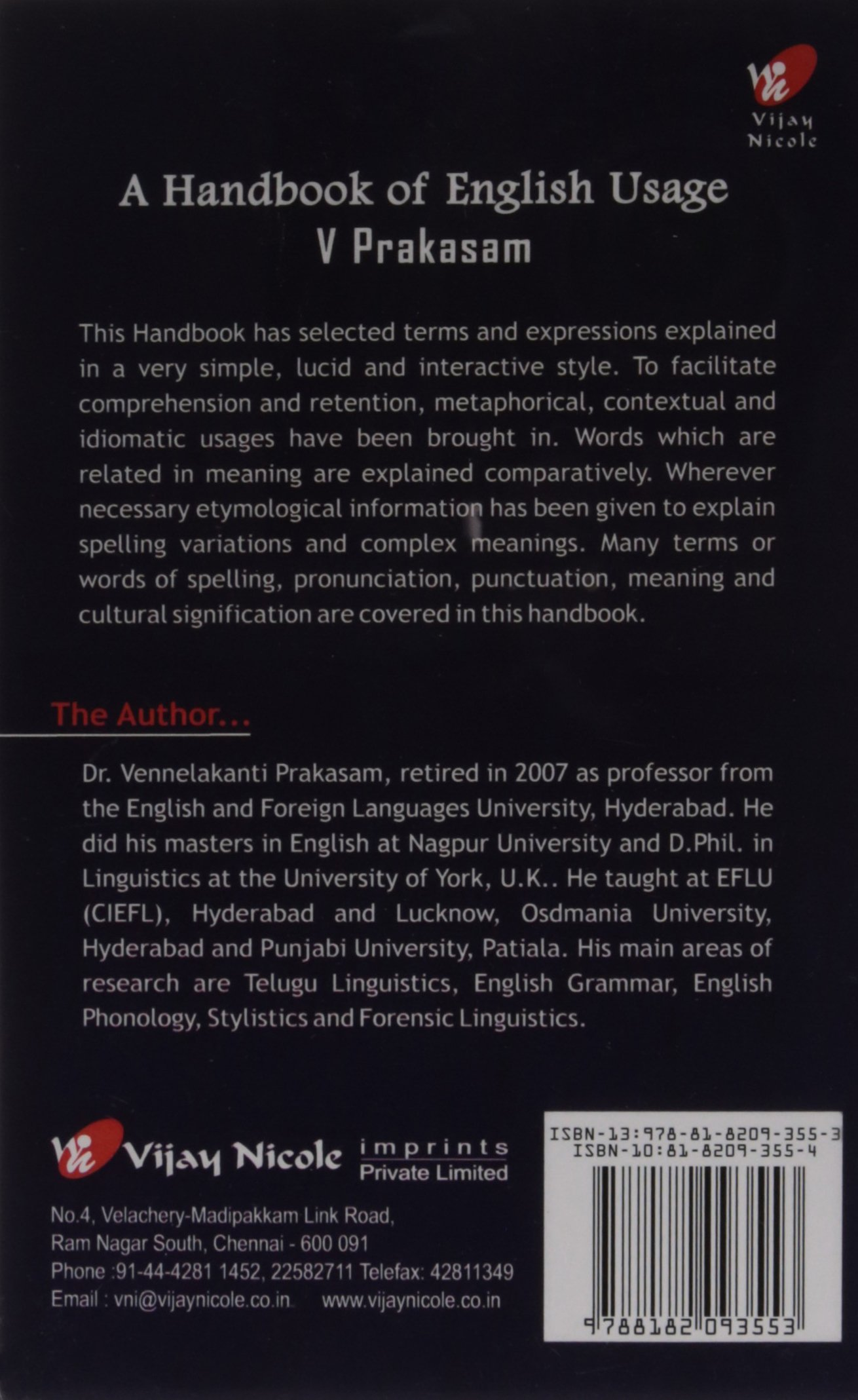 Amazon In Buy A Handbook Of English Usage Pb Prakasam V Book Online At Low Prices In India A Handbook Of English Usage Pb Prakasam V Reviews Ratings