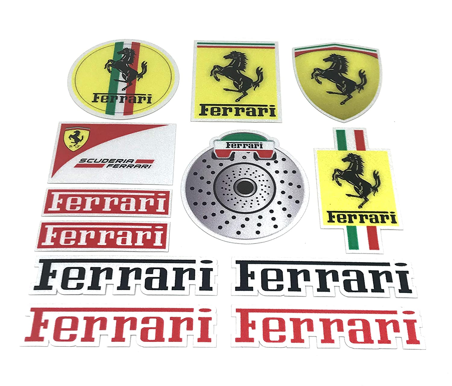 AMD 3M Stick Double Sided Tape Sticker Emblem Badge Trunk Side Rear Front Logo Letters Emblems Ferrari A