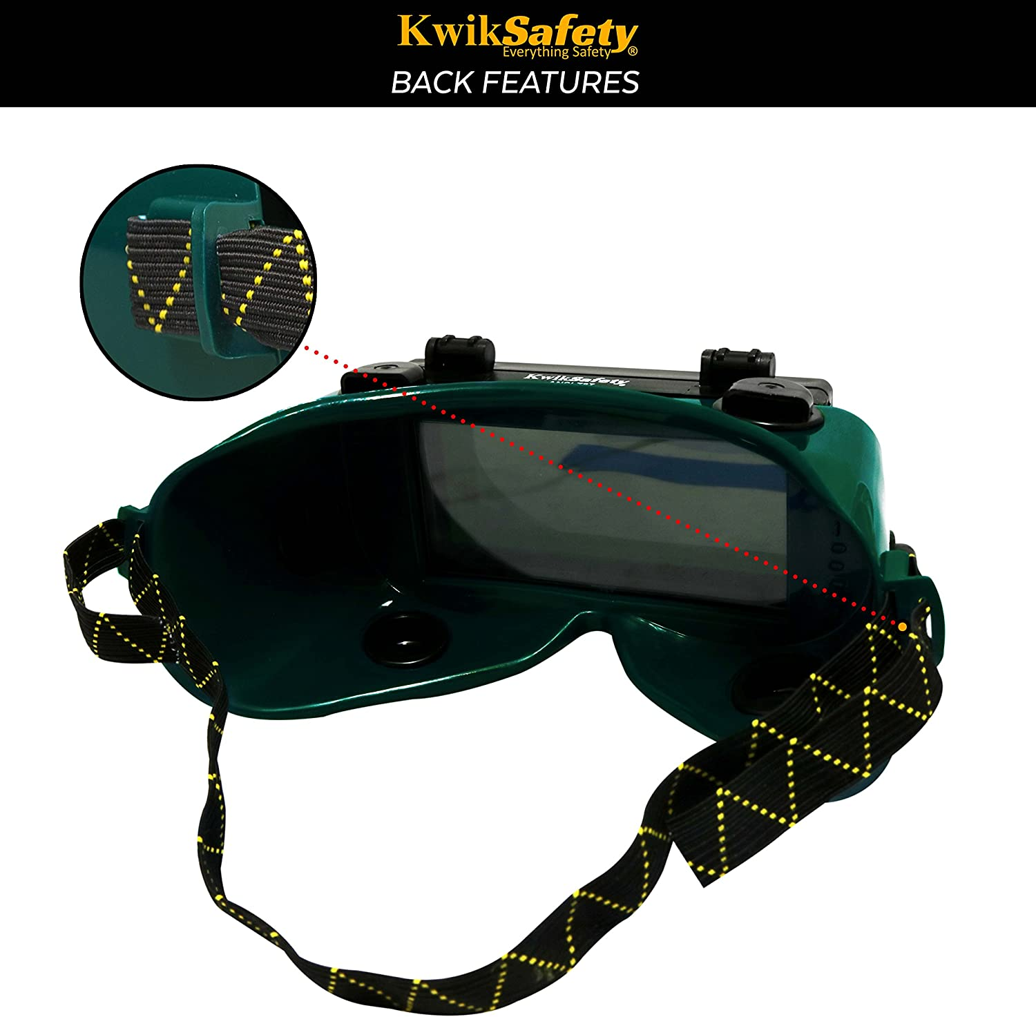 Adjustable Shade-5 Welding Safety Goggles Oxygen Acetylene Shades Goggles Safety Glasses Pressure Equalizer KwikSafety Welding Goggles Welders Mask Front Flip Lift Front Welder Goggles