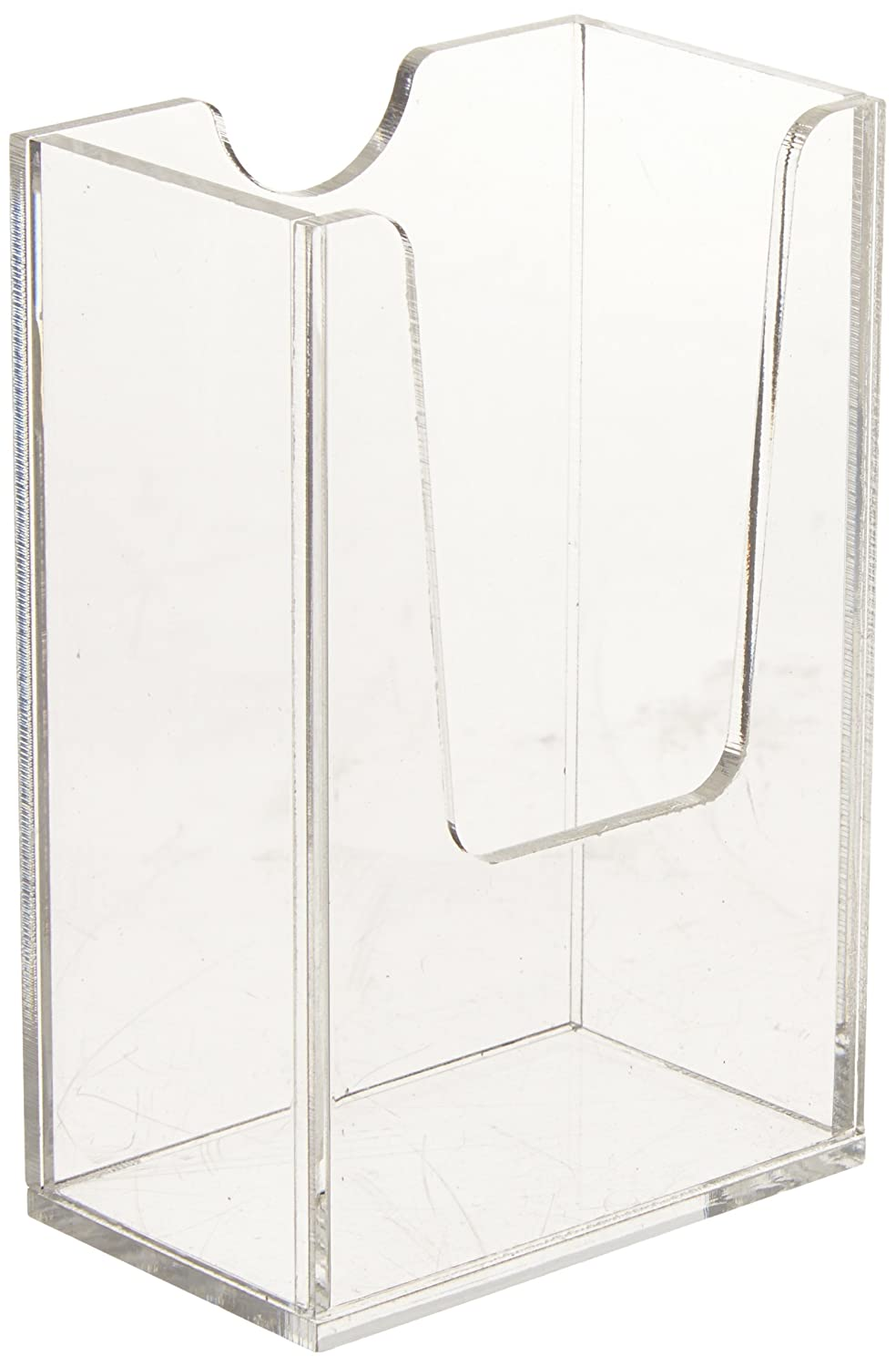 Amazon.com : Source One Vertical Business Card Holder, Clear ...