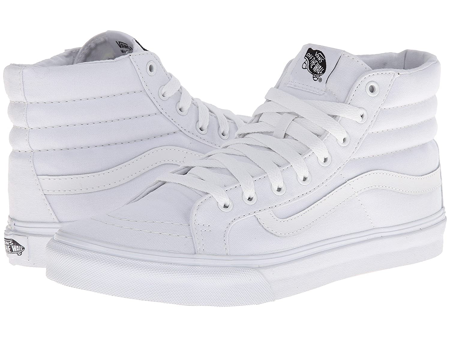 Vans Men's Sk8-Hi(Tm) Core Classics B07DN372KP 41 M EU / 10 B(M) US Women / 8.5 D(M) US Men|Slim (True White)