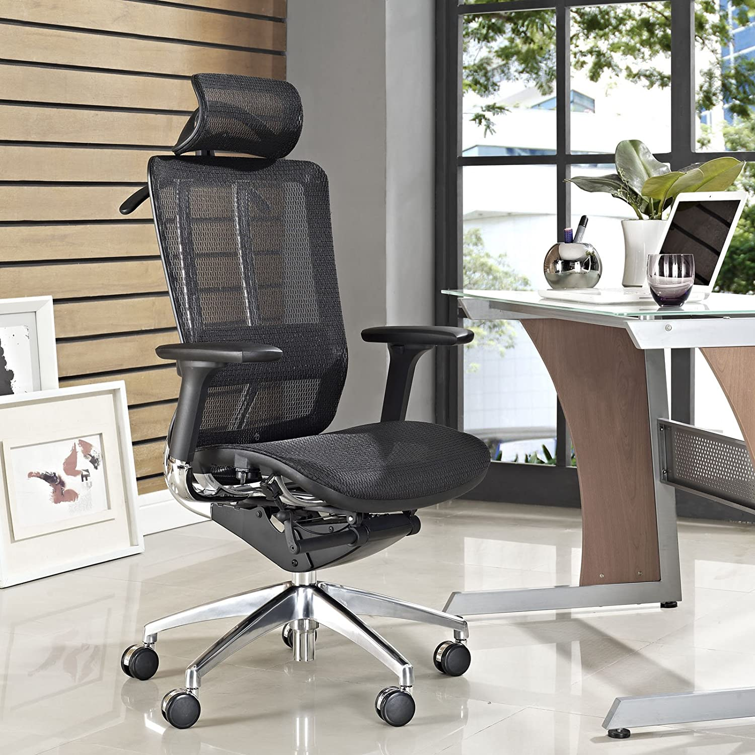 Amazon Modway Future fice Chair with Headrest with Black