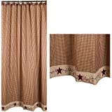 Stars And Berries Country Shower Curtain