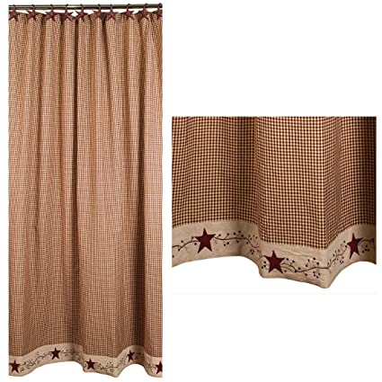 Amazon Stars And Berries Country Shower Curtain Home Kitchen