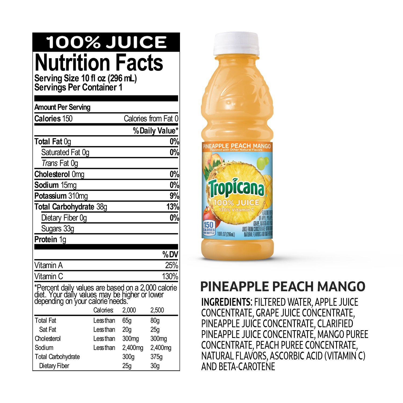 Tropicana 100 Apple Juice Nutrition Facts