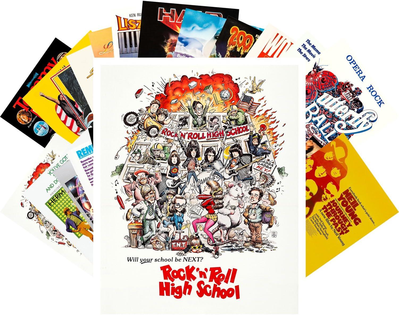 Postcard Set 24pcs Rock Music Movies Vintage Posters