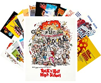 Postcard Set 24pcs Rock Music Movies Vintage Posters: Amazon co uk
