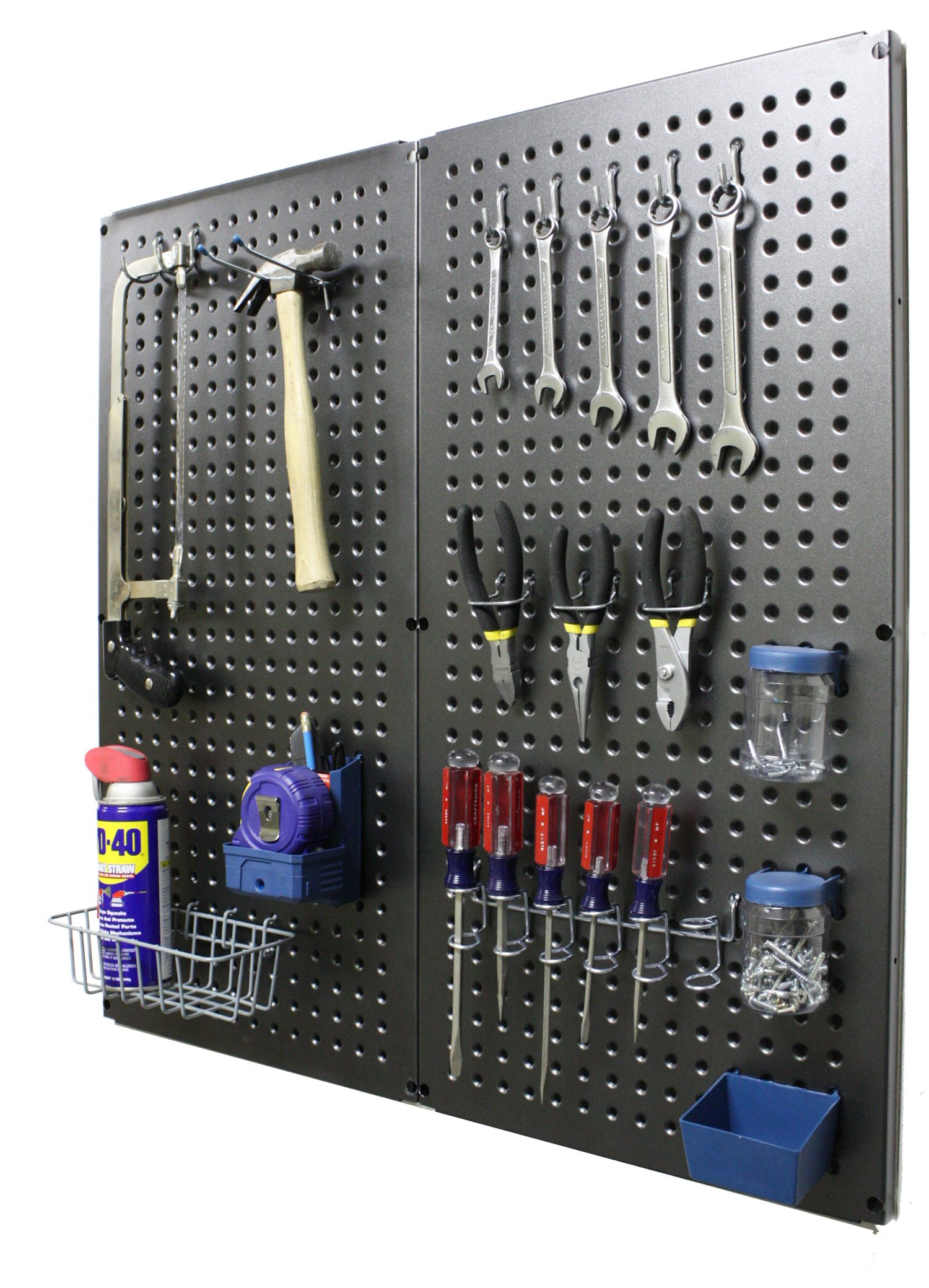 Bullet Board Metal Pegboard, Pewter (2 Per Box)