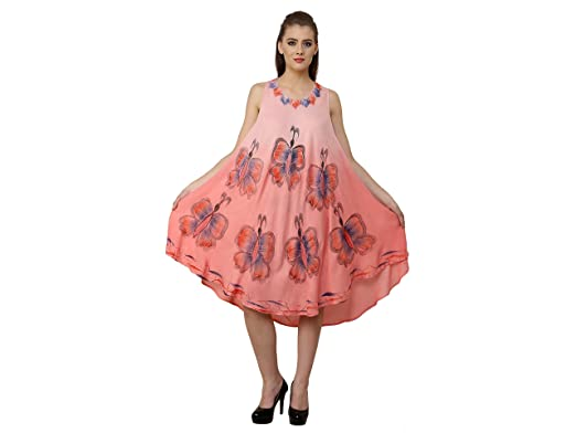 6dd0c54cddc97 Image Unavailable. Image not available for. Color: Fashion Island Women's  Umbrella Dress Airbrush Butterfly ...