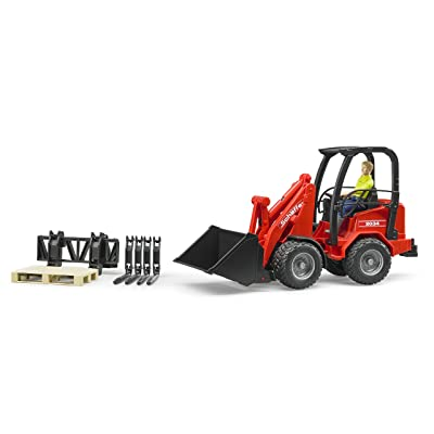 bruder Schaeffer Compact Loader 2034 with Figure & Accessories Vehicle: Toys & Games