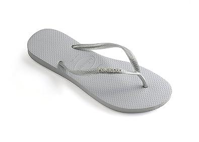 e86a18ee21f7f Havaianas Women s Slim Logo Metallic Sandal