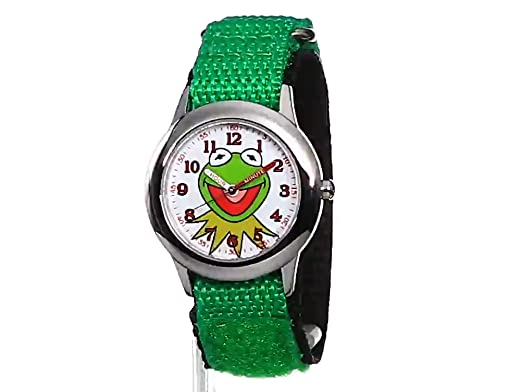 Stainless Kids' W001623 Disney The Watch Nylon Muppets Strap Kermit With Steel IDH9YeWE2
