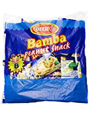 Bamba Peanut Butter Snacks All Natural Peanut Butter Corn Puff Snack (Pack of 8 x 0.7 Ounce Bags)