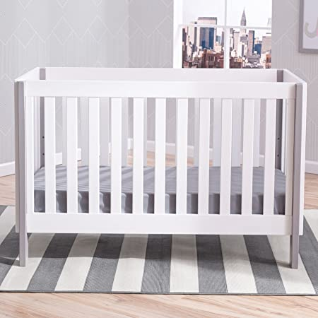 Amazon Delta Children Bellevue 3 In 1 Convertible Crib Bianca With Grey Baby