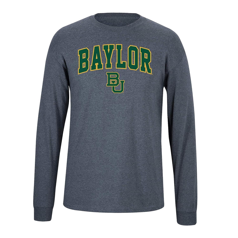Dark Heather Elite Fan Baylor Bears Mens Long Sleeve Arch Tee Shirt Medium