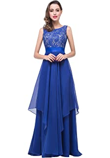 KuDress 2018 Newest Long Floor-Length Tulle Elegant Party Prom Dress(Customizable )