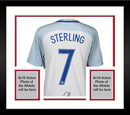 new concept d0f34 08732 Framed Raheem Sterling England National Team Autographed ...