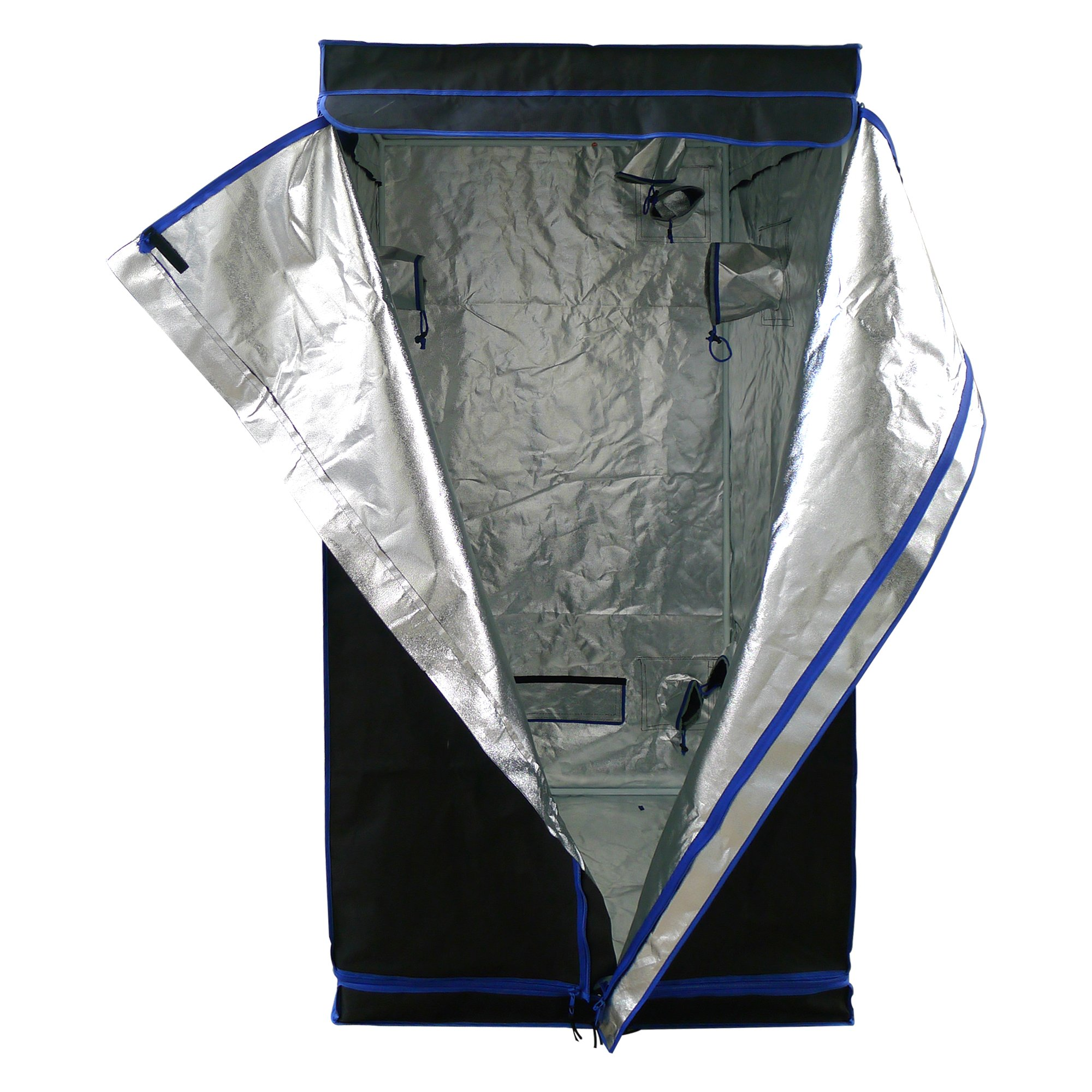 Hydroplanet 36x36x72 Mylar Hydroponic 600D 3'x3' Extra-Thick Canvas Grow Tent for Indoor Plant Growing (36x36x72) by Hydroplanet (Image #3)