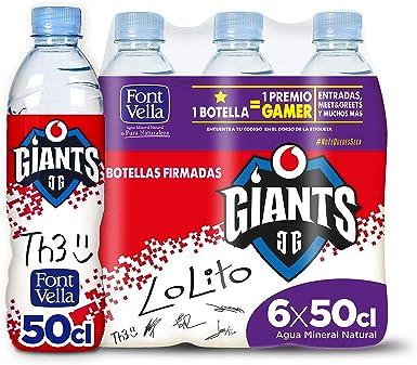 Font Vella agua mineral natural esports - pack de 6 x 50cl: Amazon.es: Alimentación y bebidas