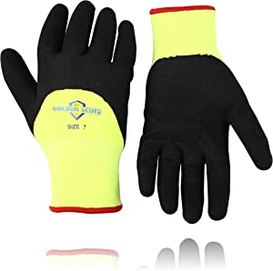 Golden Scute Freezer Winter Work Gloves,Smart Touch,Fleece Lined with Tight Grip Palms -Cold Temperatures, 2 pairs (Extra Large/Size 10)