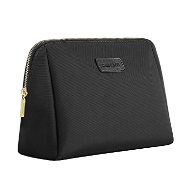 1be09ebfe5 Amazon.com  CHICECO Large Cosmetic Pouch Clutch Makeup Bag - Black  Clothing