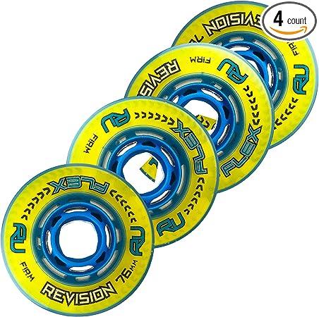 4er 8er Set REVISION Classic green Hockey Rollen 72mm//74A Inliner Skates 18-N3